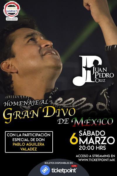 Homenaje al Gran Divo de México con Juan Pedro Cruz